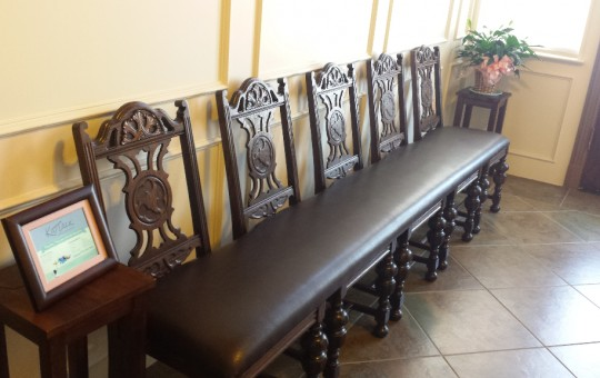 Custom Waiting Room Bench