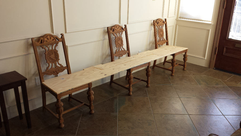 Custom Waiting Room Bench Heath Refinishing
