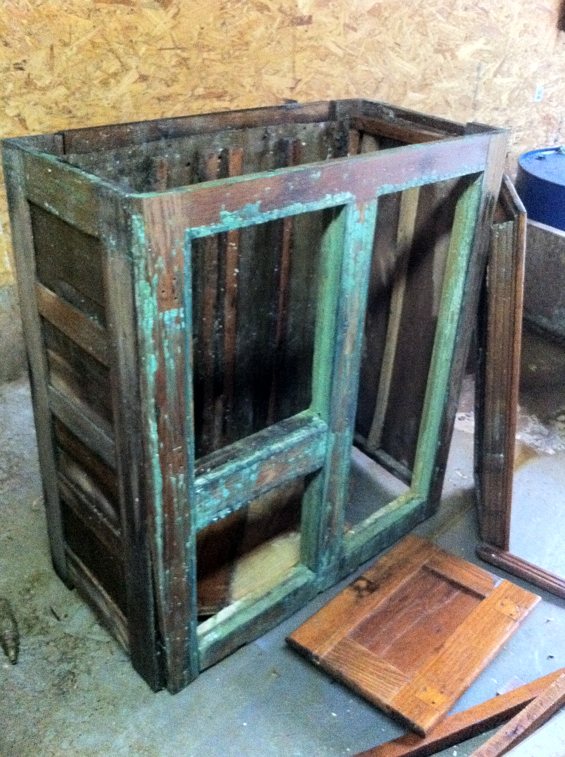 Antique Icebox Heath Refinishing