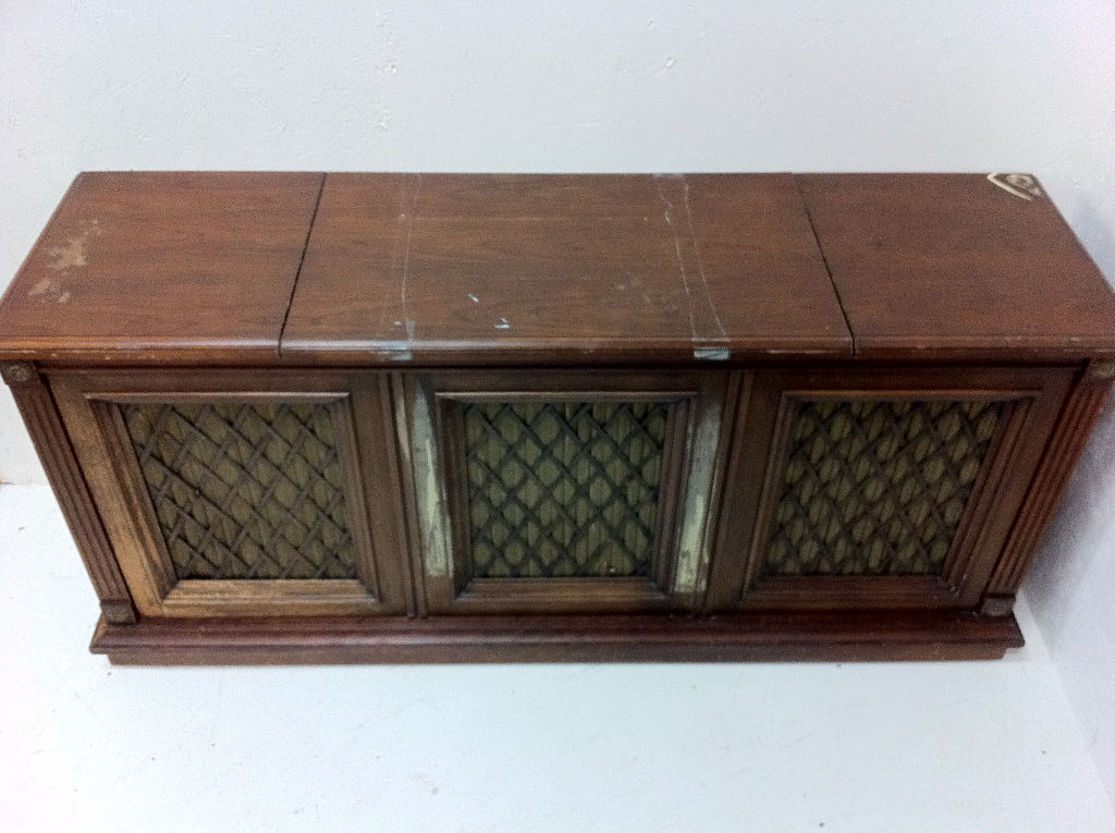 Retro stereo cabinet heath refinishing hand carved piece publicscrutiny Image collections